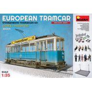 Диорама. Европейский трамвай с пассажирами и экип. масштаб 1:35 MiniArt MiA38009, фото 1