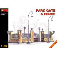 Парковые ворота  с оградой масштаб 1:35 MiniArt MiA35007, фото 1