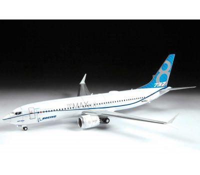 Пассажирский авиалайнер Боинг 737-8 MAX масштаб 1:144 ZV7026, фото 5